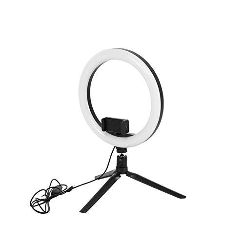 GZA Video de 10 Pulgadas 6500K LED Selfie Anillo Lámpara de Anillo USB Lámpara de fotografía con Soporte telefónico 2M Trípode Soporte para Maquillaje Youtube (Color : Only Ring Light)
