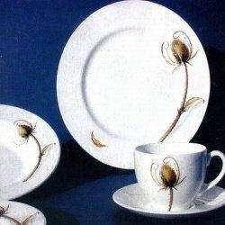 Mahlwerck Porzellan Frühstücks-/Kaffee-Geschirr DISTEL, 27-tlg. für 6 Personen
