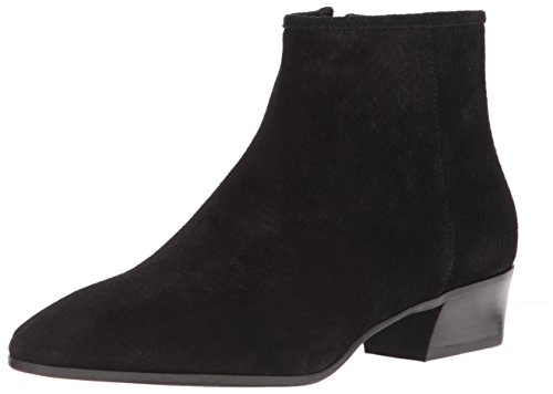 Aquatalia Women's FIRE Perforated Suede Ankle Boot, Black, 5 M M US