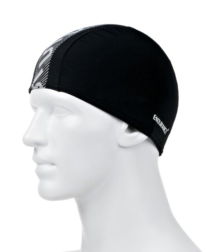 Speedo Erwachsene Mütze Monogram Endurance plus Cap, Black/White, One Size, 8-087723503ONESIZE