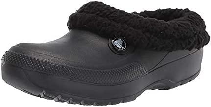 Crocs Men's and Women's Blitzen III Clog | Fuzzy Slippers, Black/Black, 6