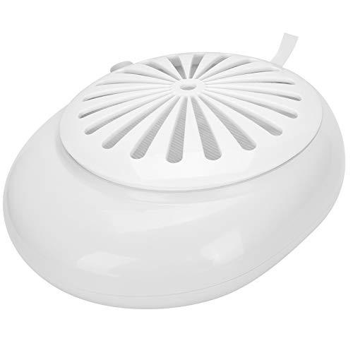 Colector de polvo de uñas Limpiador de polvo de uñas eléctrico Aspirador para arte de uñas Capacidad de súper adsorción Bajo nivel de ruido Sensación cómoda para el hogar profesional(UE blanca)