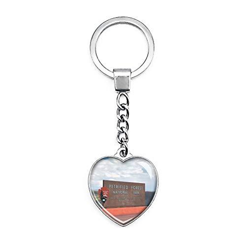 Llavero creativo de doble cara con forma de corazón de cristal en forma de corazón de Holbrook, de Estados Unidos