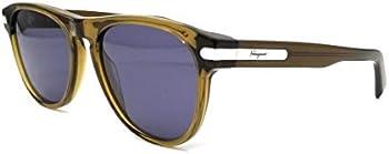 Salvatore Ferragamo Blue Rectangular Unisex Sunglasses