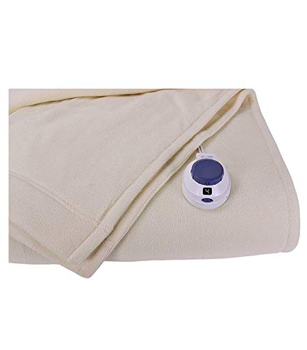 SoftHeat by Perfect Fit   Luxury Micro-Fleece Low-Voltage Electric Heated Blanket (Twin, Natural)