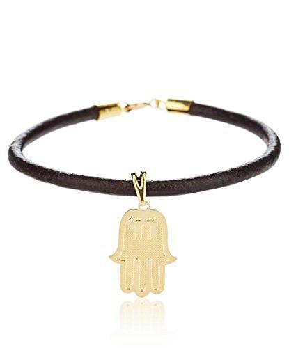 Córdoba Jewels   Goldfilled Gold 14/20Laminat Armband Hand der Fatima
