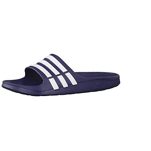 adidas Duramo Slide, Chanclas Unisex Adulto, Azul (New Navy/White/New Navy), 54 EU