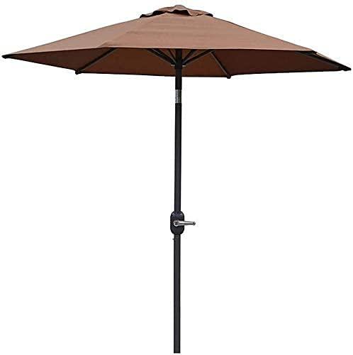 Sombrilla de jardín Parasol Sombrilla de jardín, inclinable de 2,5 m con 6 Varillas, sombrilla de Playa Hexagonal para cenador al Aire Libre, terraza, balcón GCSQF210603