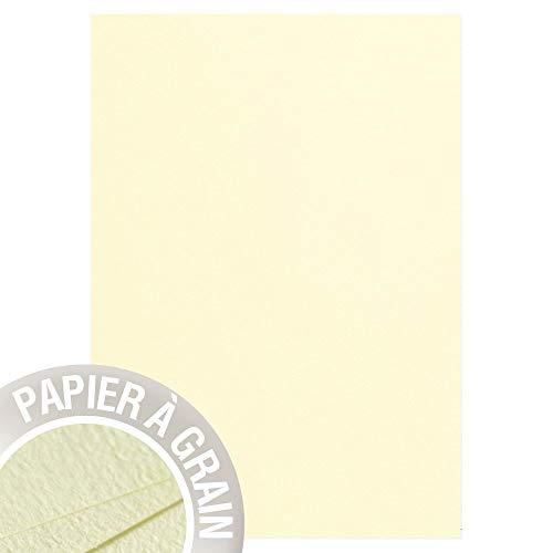 Clairefontaine 4199C Packung mit 50 Blatt Pollen, DIN A4, 210 x 297 mm, 120g, Zitrone