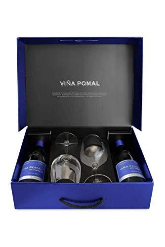 Estuche 2 botellas + 2 copas de Viña Pomal 106 Barricas Reserva 2014