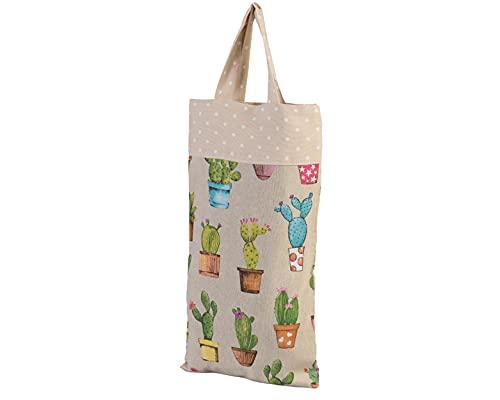 Bolsa de pan de tela cactus