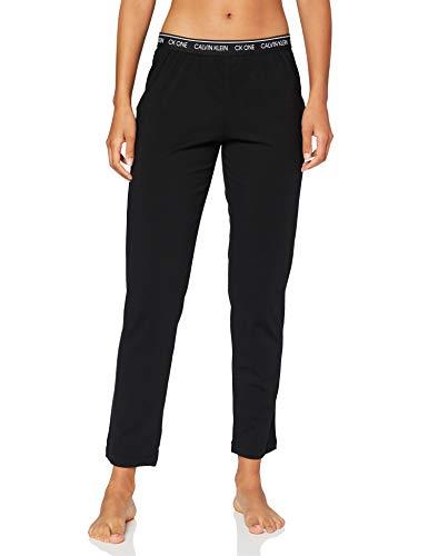 Calvin Klein Sleep Pant Pantalones de Pijama, Negro (Black 001), Small para Mujer