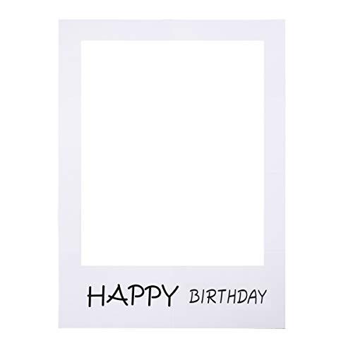 BESTOYARD Happy Birthday Party Rahmen Foto Prop Geburtstag DIY Papier Bilderrahmen Ausschnitte Photo Booth Props für Geburtstagsfeier Versorgung