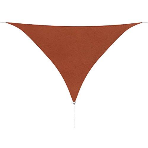 vidaXL Tenda a Vela Oxford Impermeabile Triangolare 5x5x5m Terracotta Parasole