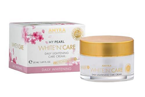 AMYRA WHITE´N´CARE - crema idratante nutriente da 50 ml per ridurre i disturbi della pigmentazione e le rughe. Con ingredienti naturali come rosa canina, olio die rosa selvatica e te verde
