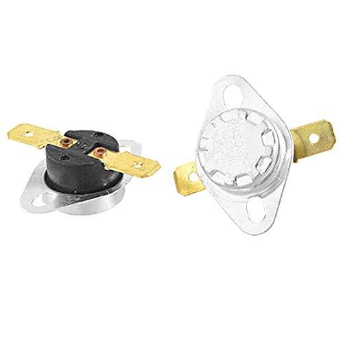 YUNB KSD301 - Termostato (250 V, 10 A, 95 ºC, interruptor controlado por la temperatura, 2 unidades)