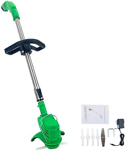 NICCOO 12V Cordless String Trimmer & Wheeled Edger, Handheld Trimmer, Grass Shear Electric, Lawn Trimmer, Garden Mower, Trimmer Cutter, Perfect for Leaves & Debris (12V Batteries) Green