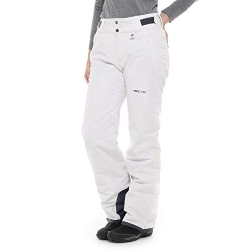 SkiGear Women's Insulated Snow Pants, White, Small (4-6) Regular