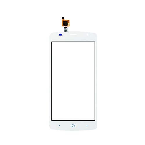 JayTong Pantalla de Repuesto Digitalizador Pantalla Táctil Frontal Vidrio con Gratis Herramientas para ZTE Blade L5 Plus (Not LCD Display) Blanco
