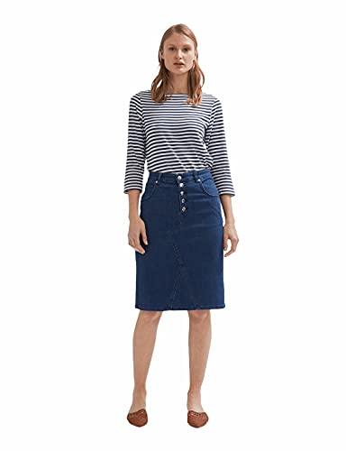 Shuuk Button Closure Denim Skirt for Women-Stylish Belt Mid-Rise Waist...