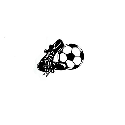 ZHYCT 2 Stück, schwarz Mode Fußball und Sportschuhe lustige Auto Autoaufkleber, Vinyl Auto Kunst Graffiti Auto Fenster Aufkleber Aufkleber für Laptop Motorrad Ipad