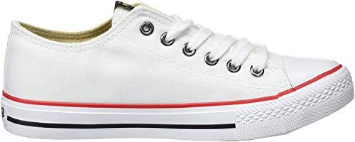 MTNG emi, Zapatillas de Deporte para Mujer, Blanco (Canvas Blanco), 39 EU