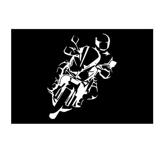 MDGCYDR Automóviles Pegatinas De 15 Cm X 12 Cm Niño con Casco Que Apoya Su Cuerpo En Una Motocicleta Pegatinas De Coche Car Styling PVC Vinilo Motocicleta Accesorios