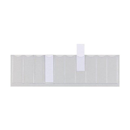 ELBA 100420914 Pendel-Einsteckschild 50er Pack aus PVC Schilderrahmen für Pendelregistraturen farblos