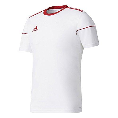 adidas Squadra 17, Maglietta da Calcio Uomo, Bianco (White/Power Red), Large