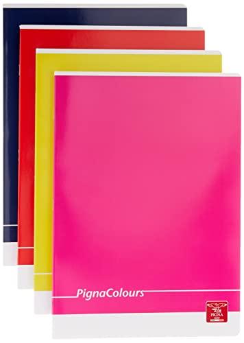 Pigna Colours 02298860B, Quaderno formato A4, Rigatura 0B, righe per 3° elementare, Carta 80g/mq, Pacco da 10 Pezzi