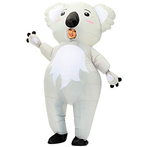 ACCIEEY Costume Gonfiabile per Adulti da Koala, Costume da Festa, Costume Gonfiabile da Koala Animale, Costume da Festa in Maschera di Halloween