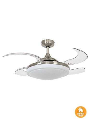 Ventilatore da soffitto Fanaway Evora con quattro ali estensibili con luce e telecomando