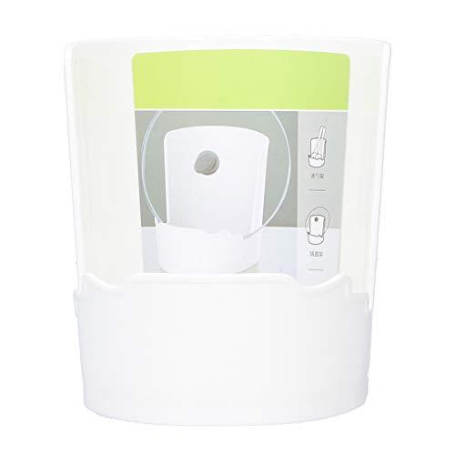Organizador de tapa de olla de plástico Ranura para tarjeta de tres etapas Estante de almacenamiento Soporte para utensilios de cocina Accesorios Blanco