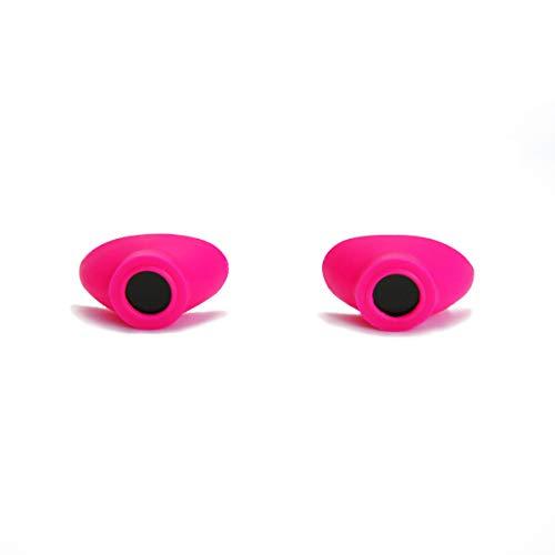 Super Sunnies Slim Flex UV Eye Protection, FDA Compliant Individual Tanning Goggles Eyeshields (Pink)