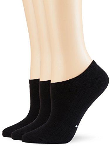 POMPEA Cotton Calzini alla caviglia, Nero (Nero 0071), (Taglia produttore:39/42) (Pacco da 3) Donna