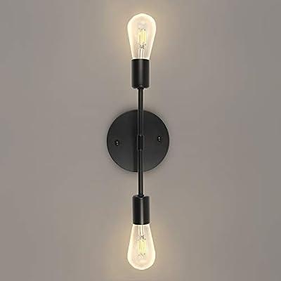 2-Light Modern Farmhouse Bathroom Vanity Light Fixtures Industrial Black Wall Sconce for Bedroom Living Dining Room Hallway