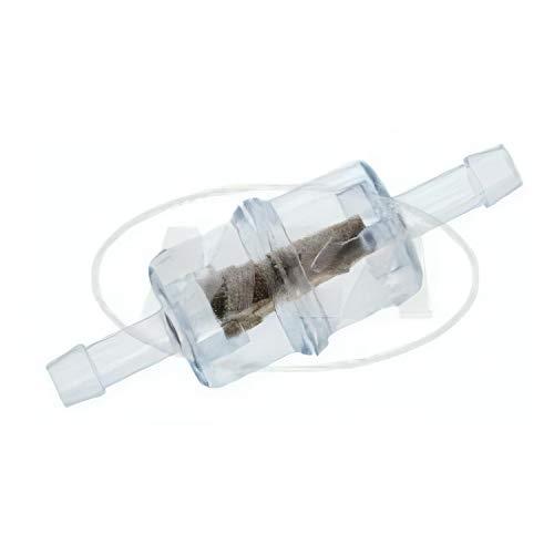 MZA Meyer-Zweiradtechnik 10315A Benzinfilter Klein - Kunststoff/Messinggranulat - Durchmesser 6 mm Anschluss