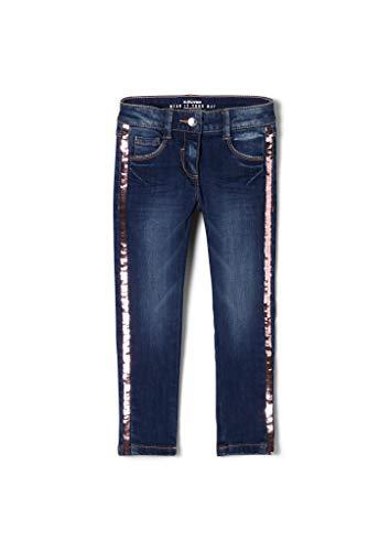 s.Oliver Mädchen Slim Fit: Jeans mit Pailletten Blue 122.REG