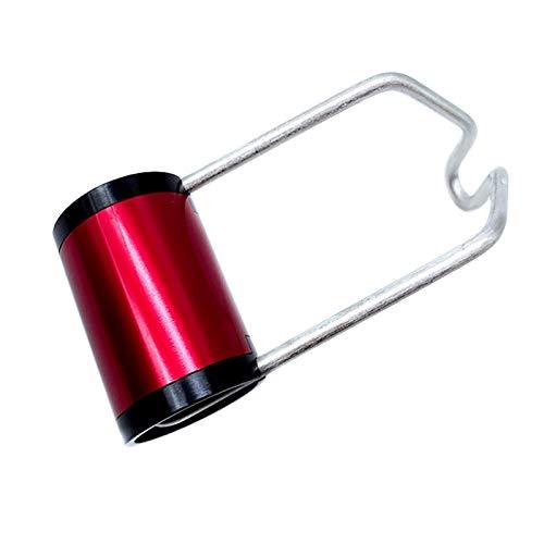 cherrypop Soporte de luz delantera Superlight Soporte de luz para bicicleta Brompton plegable Accesorios (rojo)