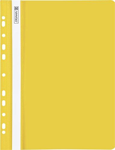 Brunnen 102015210 Schnellhefter (A4 gelocht, Office to go, glasklares Deckblatt) gelb