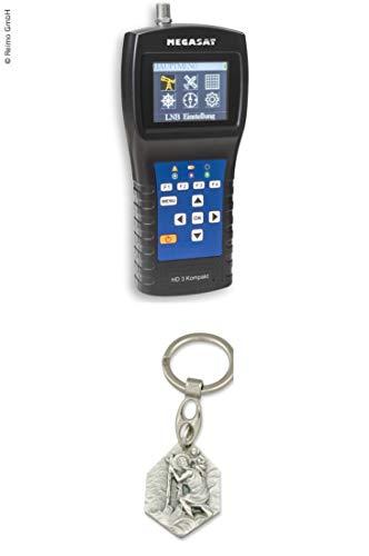 Zisa-Kombi Sat-Finder und SAT-Messgerät HD 3 Kompakt (93298849828) mit Anhänger Hlg. Christophorus