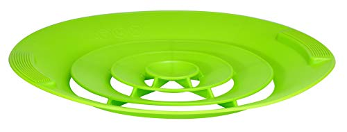 Universal Silicone Boil Over Protector Boiling Water Splash Guard Overflow Protection Green 12247