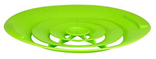 Universal Silikon-Überkochschutz Kochwasser-Spritzschutz Überlaufschutz Silikonschutz Grün 12247