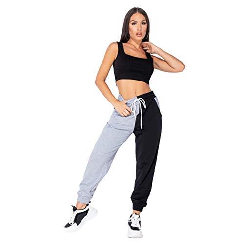EverNight Sweatpants De Cintura Elástica para Mujer, Entrenamiento De Empalme Corriendo Corredores, Salón Pantalones De Yoga con Bolsillos,3,M