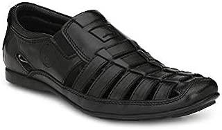 BANISH Men's Leather Comfort Ethnic Roman Sandals