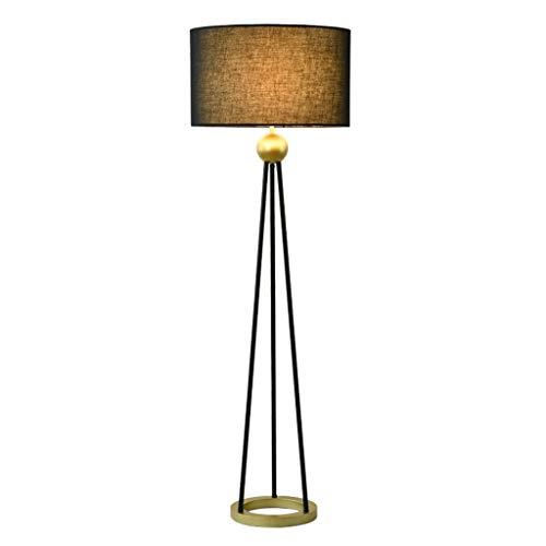 Lampes de chevet Lampadaire Salon Canapé Chambre Lampe D'étude Décoration Simple Moderne Moderne Lampe De Table Vertical (Color : Brown, Size : 50 * 156cm)