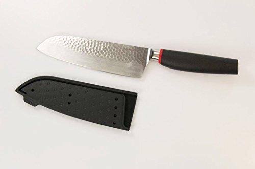 TUPPERWARE Messer Chef-Series Pure Santoku Messer schwarz-rot