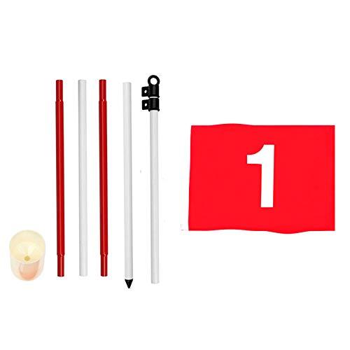 WUQIUYU Markierte Übungsloch-Cup-Golfmarke für Standard-Trainingshilfen für Golfplätze