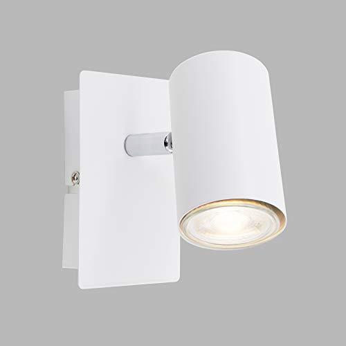 Briloner Leuchten Wandspot, schwenkbar, Spot 1-flammig, GU10, max. 40 Watt, Weiß, W