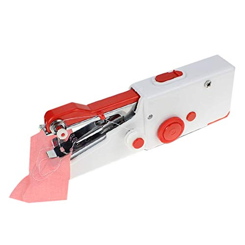 SODIAL Machines à Coudre Portables Portables Couture Couture Couture VêTements sans Fil Tissus Machine à Coudre éLectrique (Rouge)